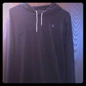 Black Hurley long sleeved hooded shirt